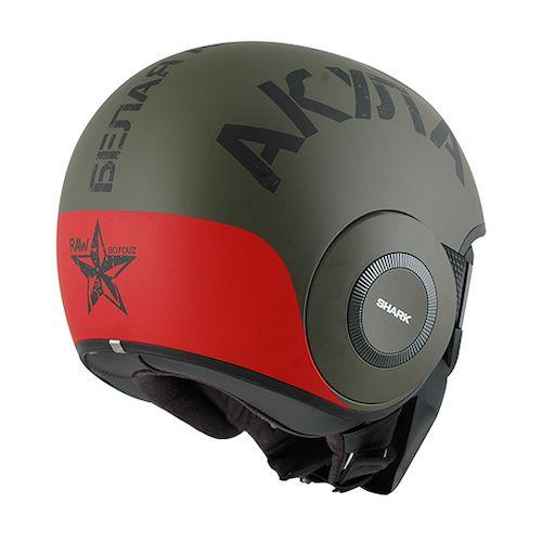 shark drak soyouz helmet revzilla shark drak soyouz helmet matte green red
