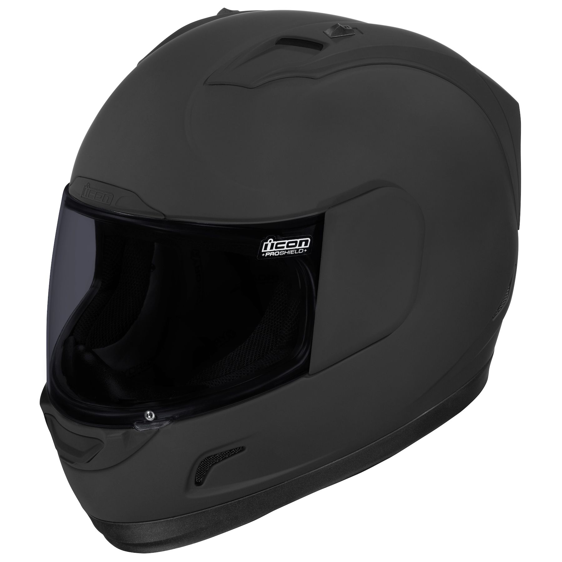 Flat Black Choose Size ICON Alliance Dark Motorcycle Helmet Rubatone