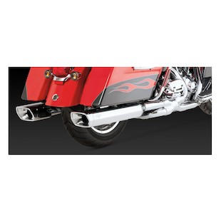 Vance & Hines Monster Squared Slip-On Mufflers For Harley Touring 1995-2016