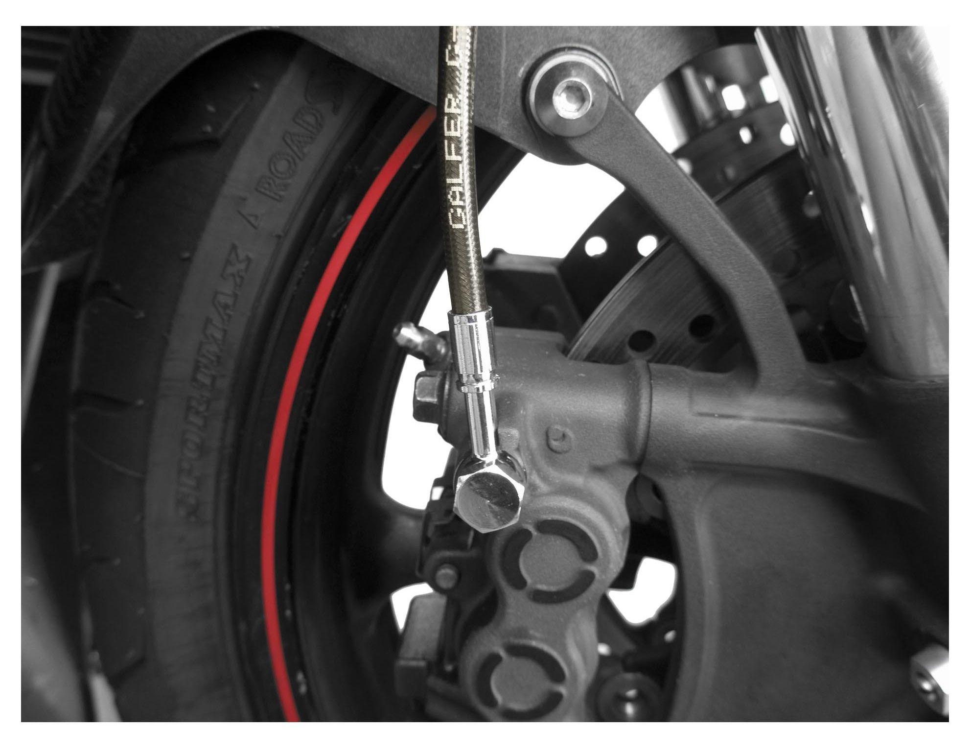 Suzuki GSXR 600 Brake Lines 2008 2009 2010 Front and Rear Black Stainless Steel