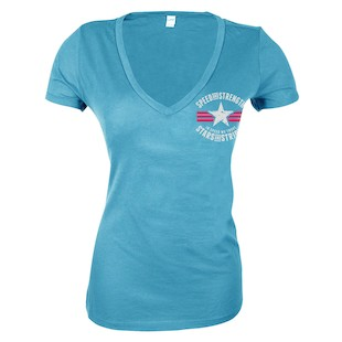 Speed and Strength Stars And Stripes V-Neck Women's T-Shirt