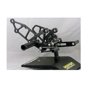 Woodcraft Complete Rearset Kit Kawasaki Ninja 250 1988-2007