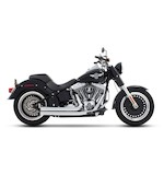 Rinehart 2-Into-2 Flush Exhaust System For Harley Softail 1986-2015
