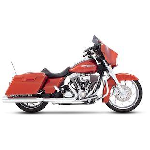 """Rinehart 4"""" Slip-On Mufflers For Harley Touring 1995-2016"""