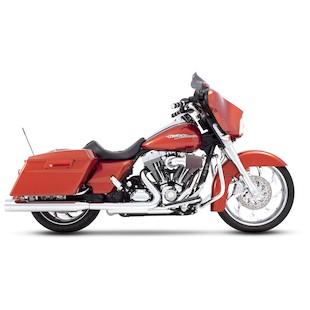 """Rinehart 3.5"""" Slip-On Mufflers For Harley Touring 1995-2009"""