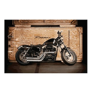 Rinehart Cross Backs Exhaust System For Harley Sportster 2004-2013