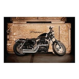 Rinehart Cross Backs Exhaust System For Harley Sportster 2004-2013