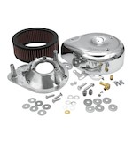 S&S Teardrop Air Cleaner Kit For Super E&G Carburetors - Case-Breathing Blockhead