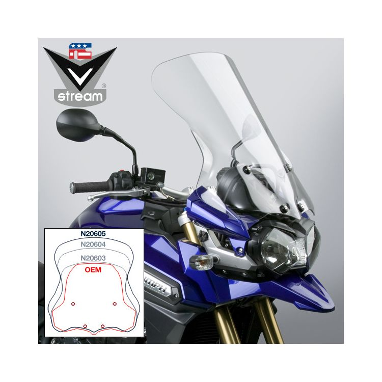 National Cycle VStream Tall Touring Windscreen Triumph Tiger Explorer 2012-2015