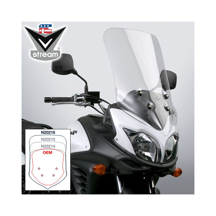 National Cycle VStream Tall Touring Windscreen Suzuki V-Strom 650 2012-2016