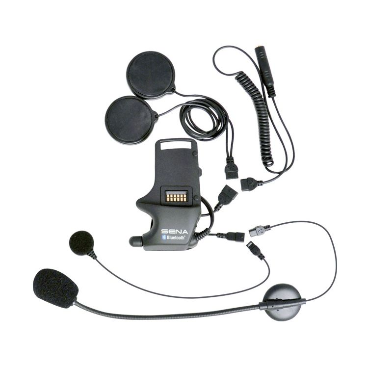 Sena SMH-10 Helmet Clamp Kit For Speakers And Earbuds With Attachable Boom Microphone & Wired Microphone