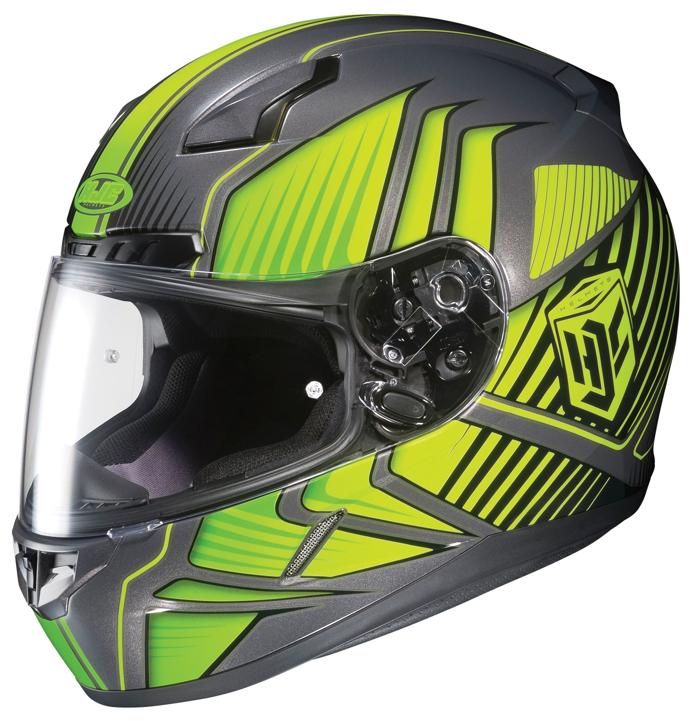 HJC CL Redline HiViz Helmet Size SM Only RevZilla - Motorcycle helmet decals graphicsappliedgraphics high visibility reflective motorcycle decals