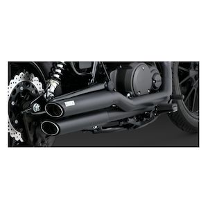 Vance & Hines Twin Slash Staggered Exhaust Yamaha Bolt 2014-2018
