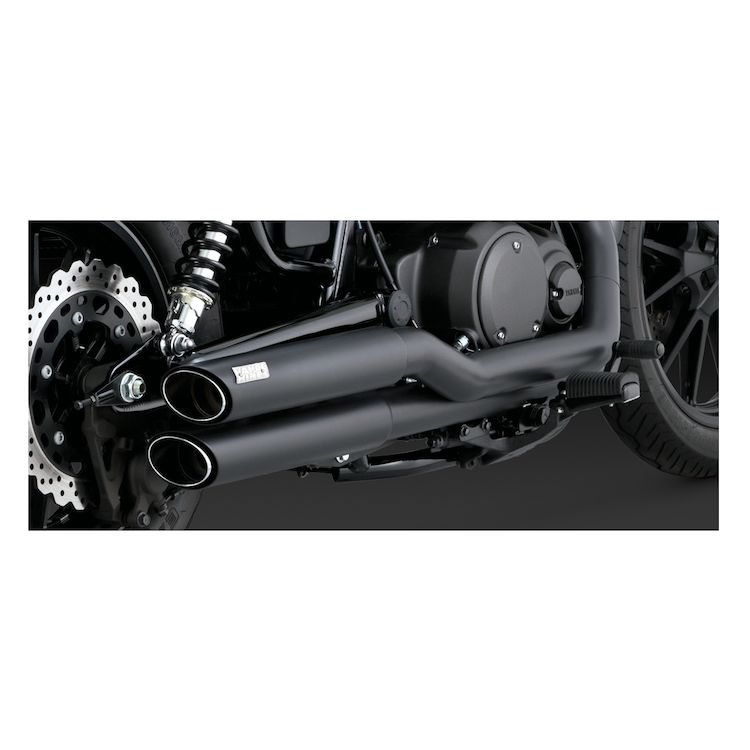 Vance & Hines Twin Slash Staggered Exhaust Yamaha Bolt 2014-2019