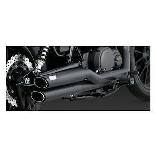 Vance & Hines Twin Slash Staggered Exhaust For Yamaha Bolt 2014-2015