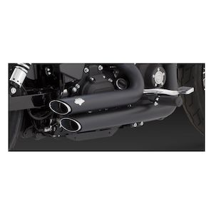 Vance & Hines Shortshots Staggered Exhaust For Harley Dyna 2012-2017