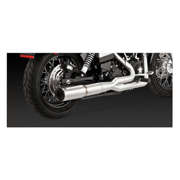 Vance & Hines Stainless Hi-Output 2-Into-1 Exhaust For Harley Dyna 2006-2017