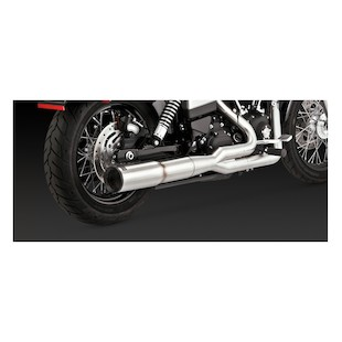 Vance & Hines Stainless Hi-Output 2-Into-1 Exhaust For Harley Dyna 2006-2016
