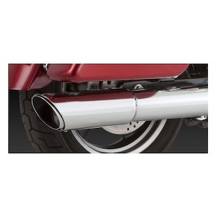 Vance & Hines Twin Slash 2-Into-1 Slip-On Muffler For Harley Dyna 2012-2015