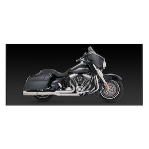 Vance & Hines Stainless Hi-Output 2-Into-1 Exhaust For Harley Touring 2009-2016