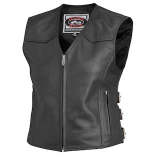 River Road Women's Plains Leather Vest