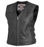 River Road Plains Women's Leather Vest [Size 3XL Only]