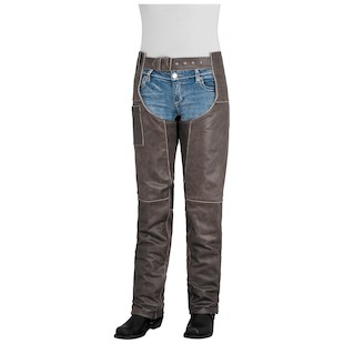 River Road Drifter Women's Leather Chaps