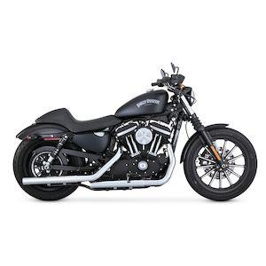 "Vance & Hines 2 1/2"" Straightshots HS Slip-On Mufflers For Harley Sportster 2014-2018"