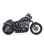 "Vance & Hines 3"" Round Twin Slash Slip-On Mufflers For Harley Sportster 2014-2017"