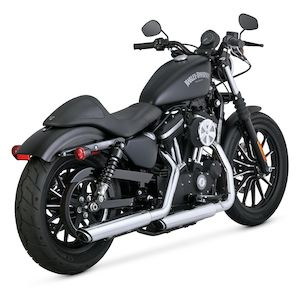 "Vance & Hines 3"" Round Twin Slash Slip-On Mufflers For Harley Sportster 2014-2019"