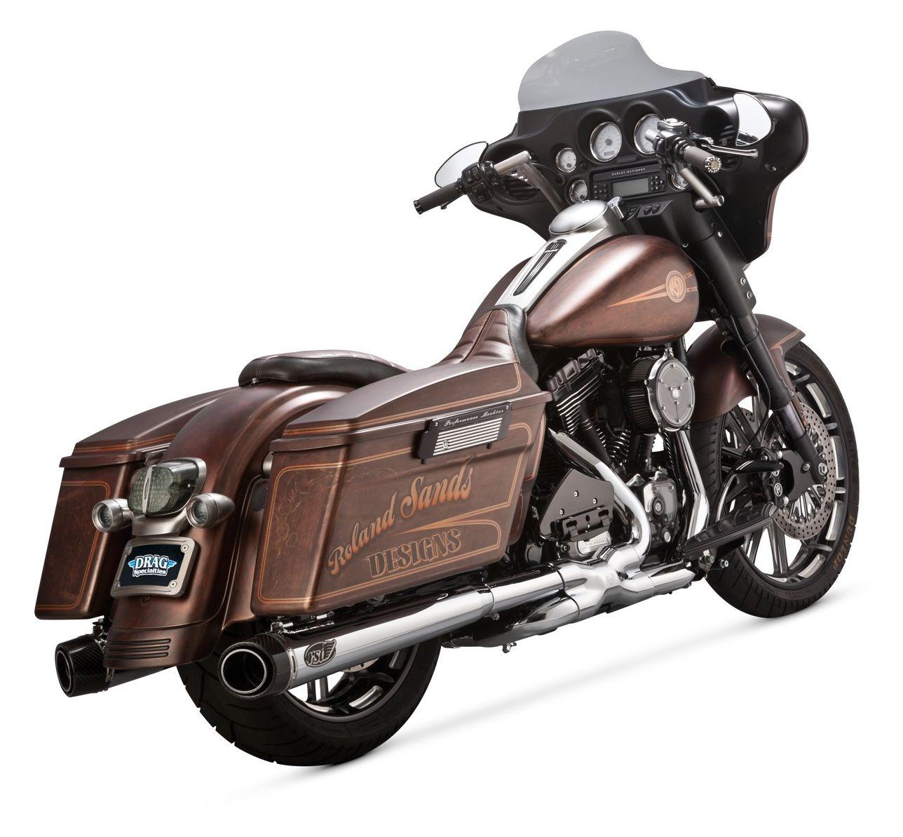 Roland Sands Slant Mufflers For Harley Touring 1995-2016