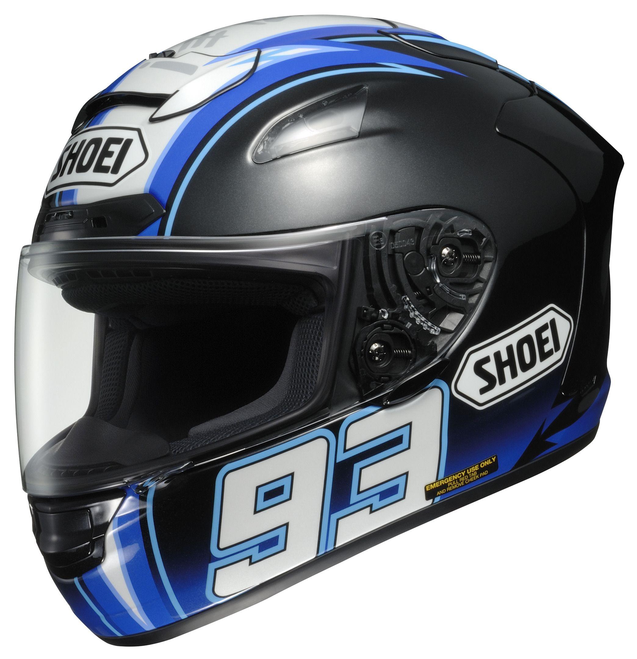 Shoei X 12 Montmelo Marquez Helmet Size XL ly