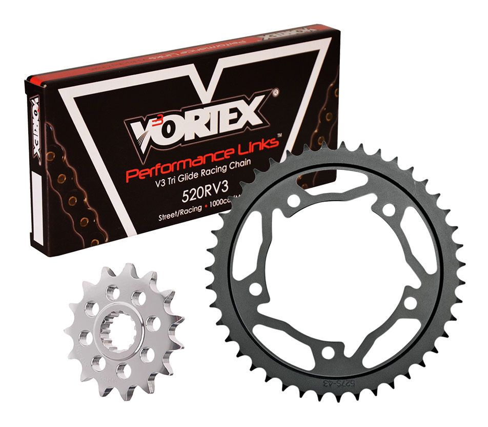 Tool Suzuki GSXR600 K4-K5 520 Race 04-05 DID Track Day Chain And Sprocket Kit