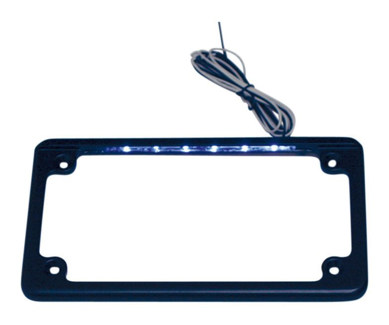 custom dynamics led flat license plate frame revzilla