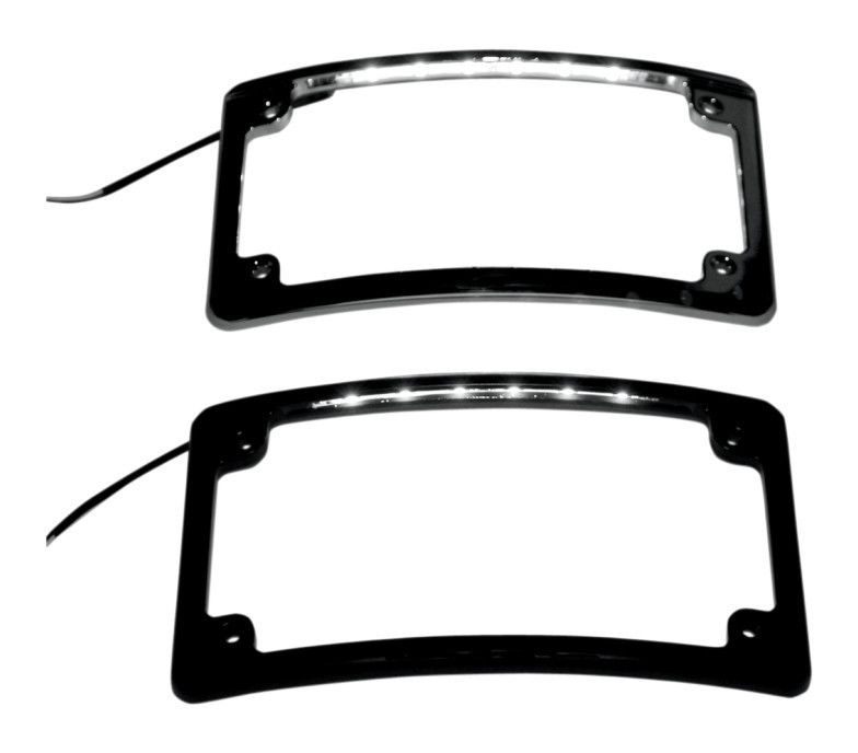 custom dynamics led radius license plate frame revzilla