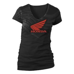 Honda Women's Abstract Wings V-Neck T-Shirt