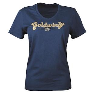 Honda Goldwing Sparkle V-Neck Women's T-Shirt