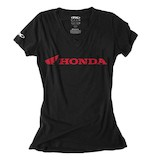 Factory Effex Honda Horizontal V-Neck Women's T-Shirt