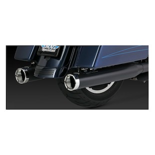 "Vance & Hines 4"" Monster Rounds Catalytic Slip-On Mufflers For Harley Touring 2007-2016"