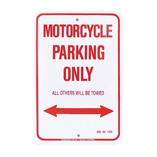 M/C Enterprises Motorcycle Parking Sign
