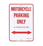 M/C Enterprises Motorcycle Parking Sign
