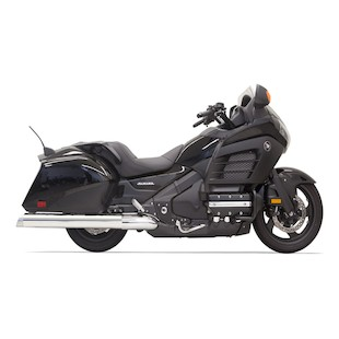 "Bassani 4"" Slip-On Mufflers For Honda Gold Wing and F6B 2012-2014"