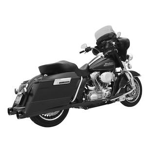 "Bassani 4"" Slip-On Megaphone Mufflers For Harley Touring 1995-2014"