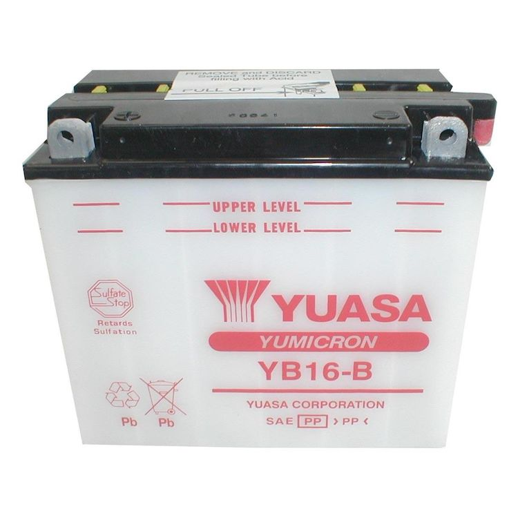 Yuasa YB16-B Yumicron Conventional Battery