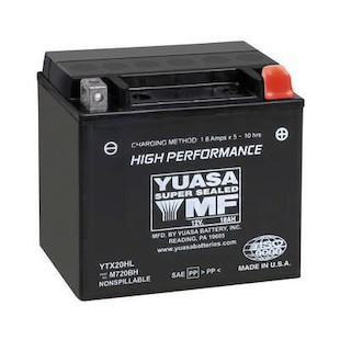Yuasa YTX20HL Factory Activated AGM High Performance Battery