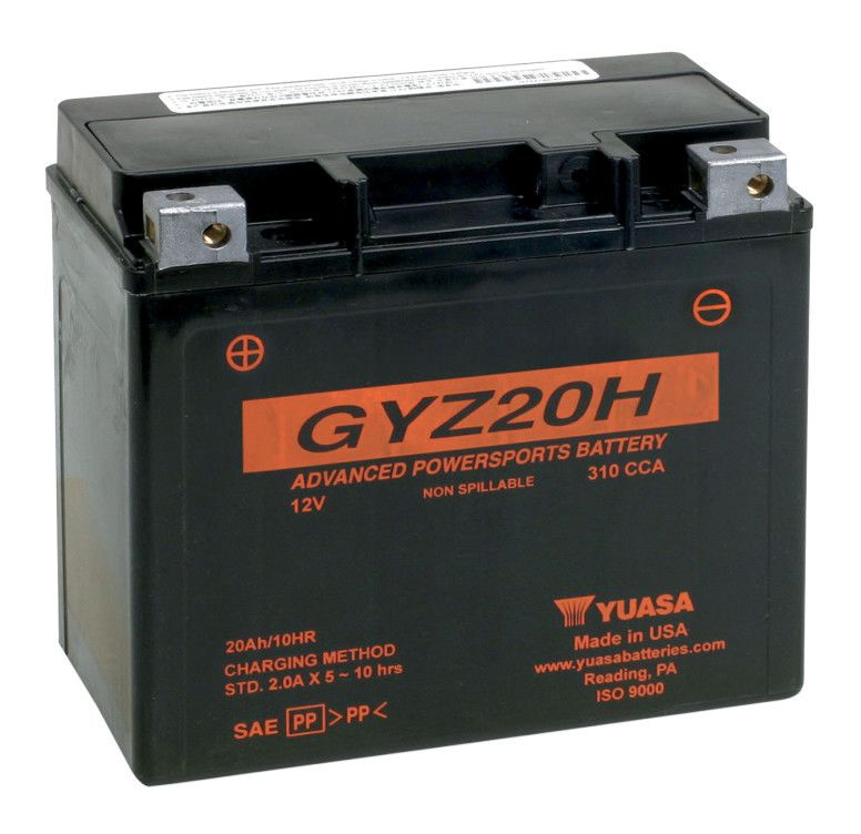 High Amp Battery >> Yuasa Gyz20h Factory Activated Agm High Performance Battery Revzilla