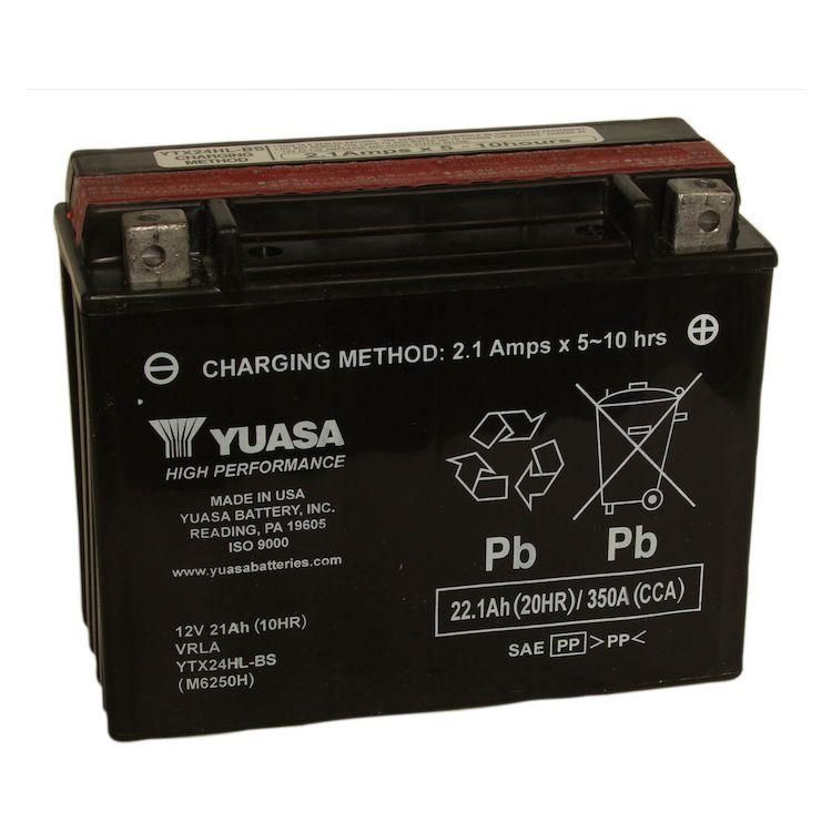 Yuasa Ytx24hl Bs High Performance Agm Battery Revzilla