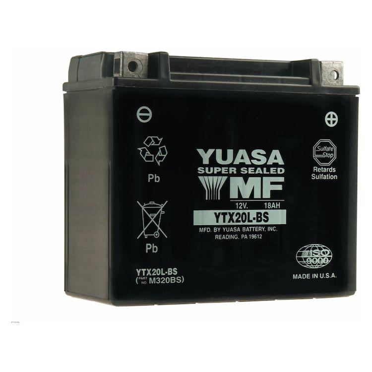 Yuasa YTX20L-BS AGM Battery - RevZilla