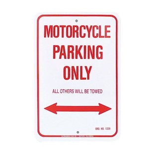 M/C Enterprises Suzuki Parking Sign