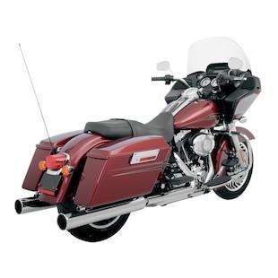 """Klock Werks Super Saver 4"""" Slip-On Mufflers For Harley Touring 1995-2014"""